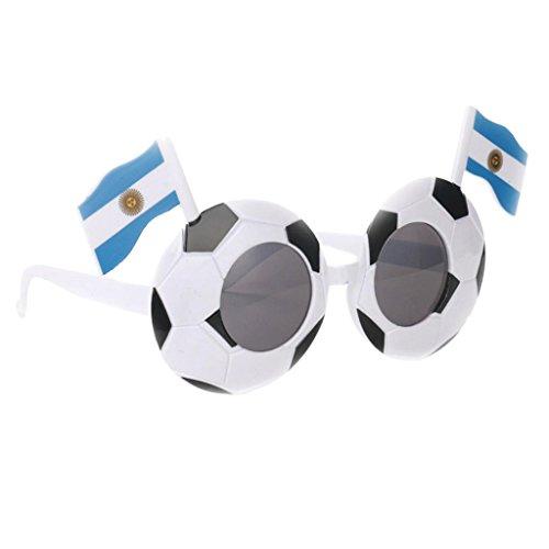 IPOTCH Fußball Partybrille Spaßbrille für Erwachsene Kinder - Argentinien (Argentinien Un Kostüm)