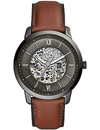 1622060c6341 Fossil Reloj Analógico para Hombre de Automático con Correa en Cuero ME3161