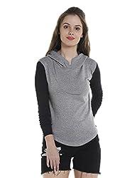 Campus Sutra Womens Plain Sweatshirt (AZW17_HRIBSLV_W_PLN_GRBL_AZ_S)