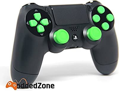 "PS 4 ""Black/Green"" Rapid Fire Modded Controller for COD Black Ops3, Infinity Warfare, AW, Destiny, Battlefield: Quick Scope, Drop Shot, Auto Run, Sniped Breath, Mimic, More"