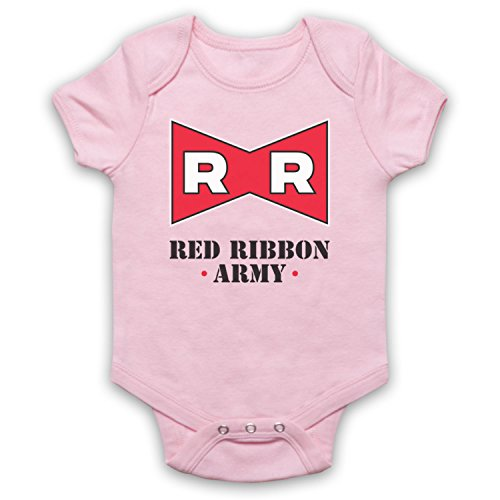 Dragon Ball Z Red Ribbon Army Babystrampler, Hellrosa, 18-24 Monate (Dragon Ball Z Lp)