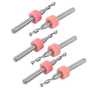 DealMux 2,05 millimetri Suggerimento Gioielli lavoro Strumenti rotanti mini PCB CNC Dremel punte di trapano 6 Pezzi