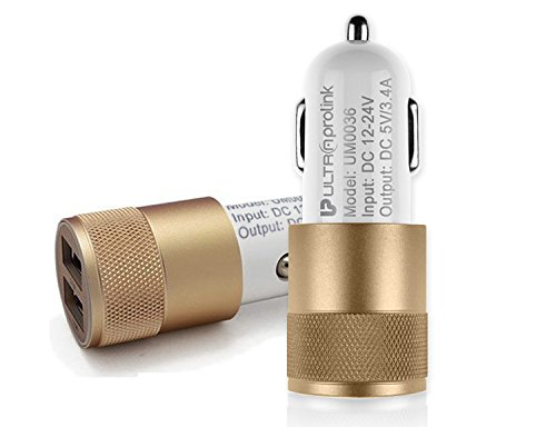 UltraProlink Titanium - Dual USB Car Charger 3.4A with 1m Micro Cable  available at amazon for Rs.549