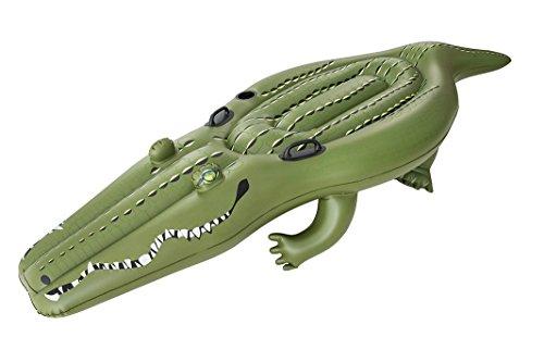 Bestway Pool Spielzeug Riesen Alligator Krokodil Luftmatratze Luma mit Getränkehalter 259x104cm Schwimmtier Relax Liege