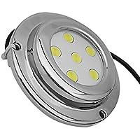 MagiDeal LED Luz de Submarino de Alta Intensidad de Acero Inoxidable para Barco Marino - Azul