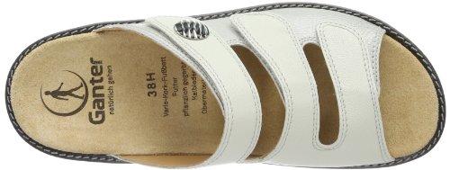 Ganter Hera Weite H, Sabots femme Blanc (Weiß (offBlanc 0400))