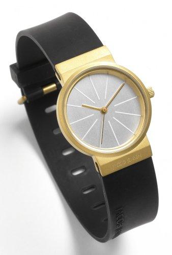 Jacob Jensen Women's Quartz Watch Titanium Serie Titanium Series 691 with Rubber Strap