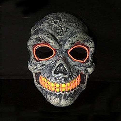 Erwachsene Gift Lila Für Kostüm - Halloween Festival LED Maske EL Kaltlicht Halloween Kostüm PVC Cosplay Nachtlicht Glitzer Party-LQCN, Batterien