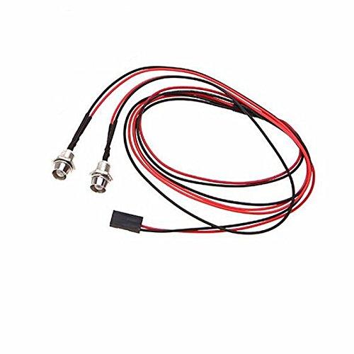 1pc 2 LED Upgrade 5mm Lampe Lumière Blanc pour Voiture Camion RC