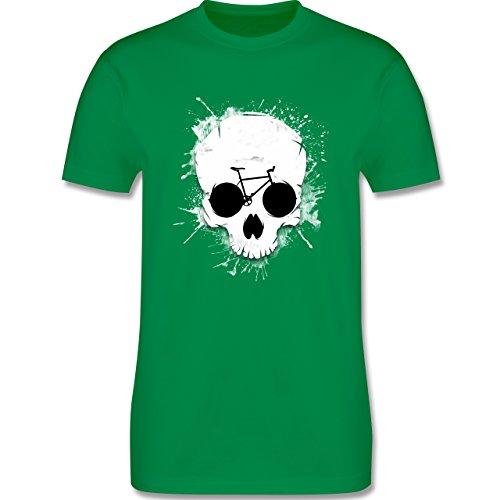 Radsport - Ride or die - Totenkopf Fahrrad - Herren Premium T-Shirt Grün