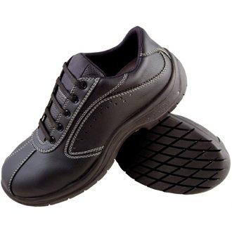 Lites Sicherheit Schuhe A398–43Lites Seite perforiert Lace Up, Größe 43, Schwarz