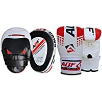 AQF Boxing Focus Pads With Boxing Gloves Mitts Hook and Jab Punch Bag Kick MMA