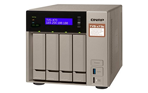 Preisvergleich Produktbild Qnap TVS-473e-4G 4-Bay 8TB Bundle mit 2X 4TB Gold WD4002FYYZ
