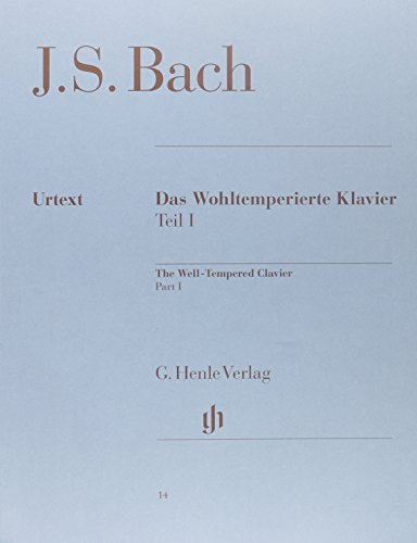 The Well-Tempered Clavier - Revised Edition Softcover Part I, BWV 846-869 by Henle Urtext Edition