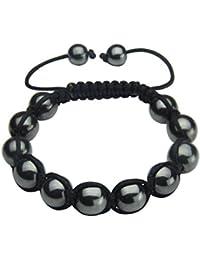 Bling bracelets en cristal de Shamballa boules avec des perles en macramé.