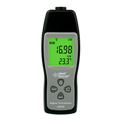 WULE-RYP Speed Measuring Instruments Digital Geschwindigkeitsmessgeräte Digitaler Tachometer Laser Tach Range 30000RPM LCD-Anzeige Motorgeschwindigkeitsmesser AS926 LCD Display Motor Speed Meter
