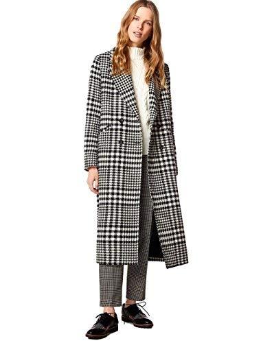United Colors of Benetton Coat Giubbotto, Nero (Black White 901), 38 (Taglia Produttore: 42) Donna