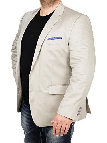 bonprix Herren Sakko untersetzt Comfort Fit Baumwoll-Mix Übergröße Blazer Zweiknopf Jackett Anzug Langgröße bequem Spezialgröße, Größe 28, chelseagrey