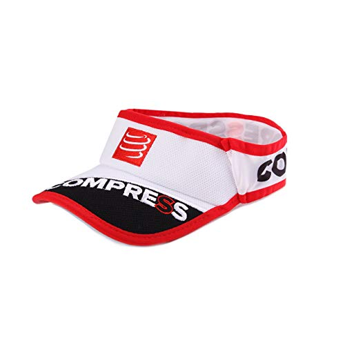 Compressport Stirnbänder UltraLight Visor Ultra Light V2 Kappe, Weiß One Size