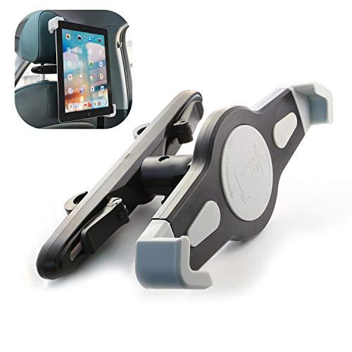 JaxTec Kfz-Tablet-Halterung, Auto-Kopfstützen-Halterung: Universell um 360 Grad drehbar, für alle 20,9-29,5 cm Tablets, Pad Pro 9,7 Zoll / 26,7 cm, Nintendo Switch, Tab, Handyhalterung -