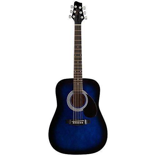 Stagg SW201 3/4 BLS - Guitarra acústica con cuerdas metálicas (tipo dreadnought) color azul