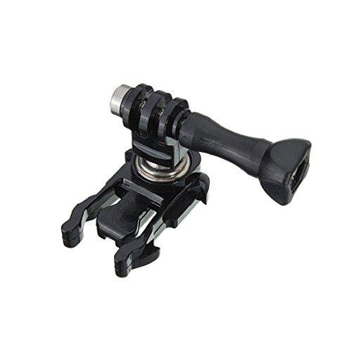 Gazechimp 360 Grad drehung Kugelgelenk Kamera Halterung Clip Klemmstativ für GoPro Hero Actionkameras -Schwarz