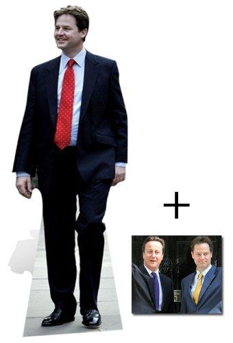 NICK CLEGG (ALLGEMEINE WAHL 2010) /Politiker Lebensgrosse Pappaufsteller mit 25cm x 20cm foto