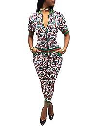 967960342113 Estate Stampa Abbigliamento Sportivo Fashion Maniche Corte Camicie Bluse Top  con Zip + Sportivi Pantaloni Leggings