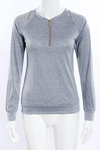 C.X Trendy - Sweat-shirt - Femme bleu bleu Gris