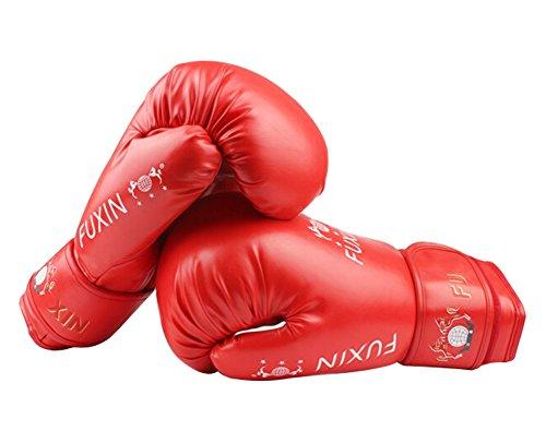 Boxen Kämpfen Handschuhe Haushaltstrainingshandschuhe rot, 10 Ounce