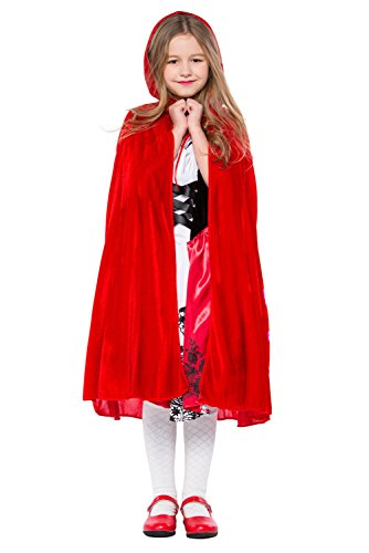 Kostüm Little Kinder Riding Hood Red - Joyplay Rotkäppchen Kostüm Kinder Rotkäppchenkostüm Little Red Riding Hood Kinderkostüm