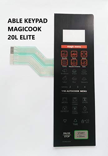 Able Magicook 20L Elite Microwave Oven Membrane Keypad Black