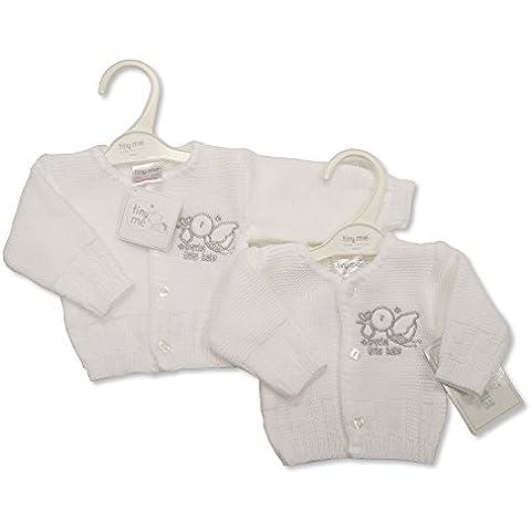 Gorgeous bebés prematuros pájaro con especial Little Baby Plata Detalles de punto Cardigan