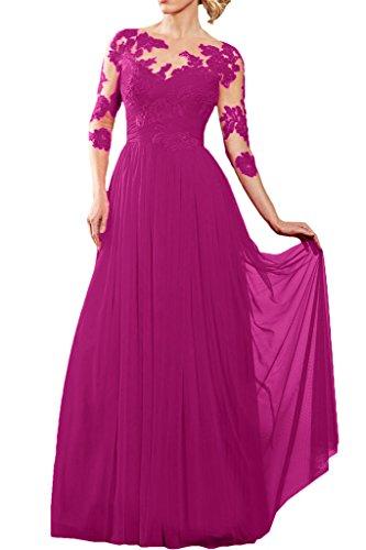 Victory Bridal - Robe - Trapèze - Femme Rose - Fuchsia
