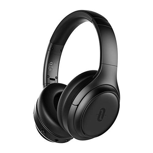 TaoTronics Active Noise Cancelling Bluetooth 5.0 Kopfhörer, Tiefer Bass mit CVC Geräuschunterdrückendes Mikrofon, 24 Std. Wiedergabedauer, Komfortable Ohrpolster für Reisen tragen [2019 Neuste] - Bluetooth-sound-cancelling