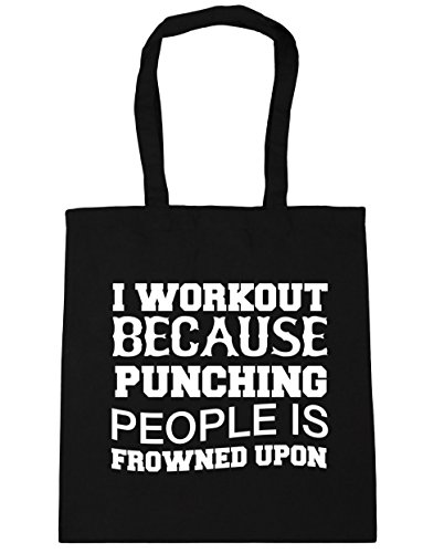 hippowarehouse-i-workout-because-punching-people-is-frowned-upon-tote-shopping-gym-beach-bag-42cm-x3
