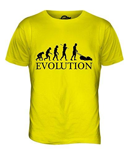 CandyMix Rasenmäher Evolution Des Menschen Herren T Shirt Zitronengelb