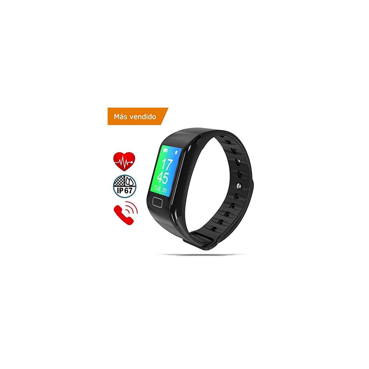 417ay xGkJL. SS1200  - NK Pulsera de Actividad Inteligente Smartband-02, Frecuencia cardíaca, Monitor del sueño, Resistencia al Agua IP67, Podómetro, Color Negro