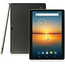 AnTeck ® de 10 pulgadas con Android 5.1 Lollipop Tablet PC, IPS, 3G, Phablet 16 GB Quad Core, cámara, Bluetooth, GPS, Pantalla Táctil Capacitiva, WiFi