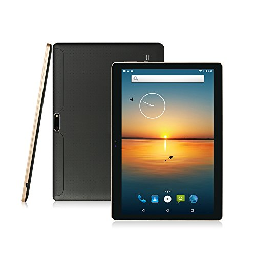AnTeck 10 Zoll Android 6.0 Lollipop IPS Tablet PC 3G Handy Anruf Phablet 16GB Quad Core Dual SIM Kamera Bluetooth GPS Kapazitiver Touchscreen WiFi