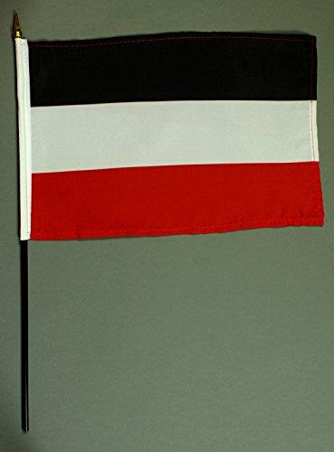 Handflagge Tischflagge Deutsches Kaiserreich schwarz weiß rot Kaiserflagge 20x30 cm mit 42 cm Mast...