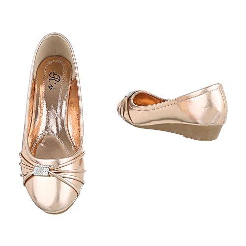 ... Ital-Design - Scarpe con plateau Donna oro Rosa