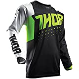 Maillot Cross THOR Pulse Aktiv - Lime / Noir - Gamme 2017 - Taille L