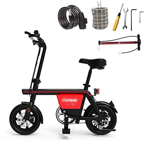 DHR Elektroroller Adult Kick Pedal Scooter Lithium Batterie Elektrisches Fahrrad Praktisch Pendeln 48V 25km / h 45km Kilometerleistung Elektro Scooter ( Color : Black , Size : 45km mileage )