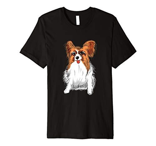 Papillon Hund T Shirt-niedliche Papillon Hund mit Zunge Out