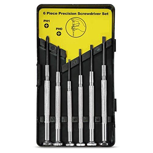 Tools Heimwerker,TwoCC Set mit Mini Schraubendreher Case Präzision Schraubendreher Kit mit 6 Verschiedene (Wels Uhr)