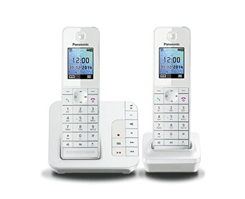 Panasonic KX-TGH 222 DUO Schnurlostelefon mit Anrufbeantworter (DECT)