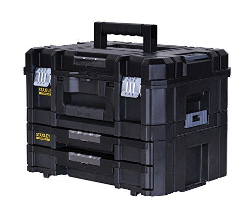 Großhandel 2 Schublade (Stanley FatMax Werkzeugkoffer / Werkzeugkasten-Combo TSTAK (21.5L Fassungsvermögen, mit 2 Schubladen und Organizern für Kleinteile, mit Metallschließen, mit herausnehmbaren Innenteilern) FMST1-71981)