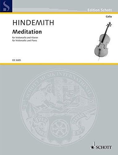 Meditation: aus dem Tanzspiel Nobilissima Visione. Violoncello und Klavier. (Edition Schott)