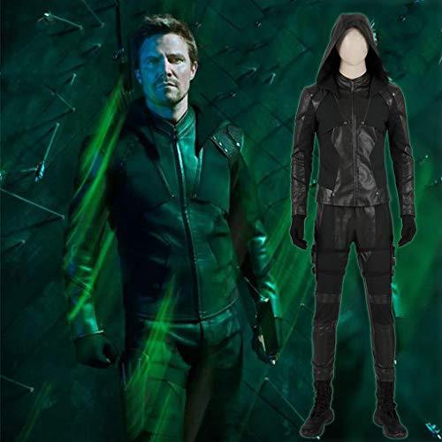 Cosplay Green Arrow Kostüm Kleidung Weihnachten Halloween Kostüm Für Erwachsene Tragen Full Set of Men (no Shoes)-XL (Green Arrow Kostüm Halloween)